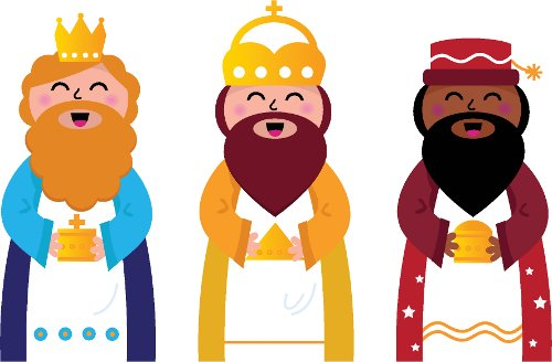 Resultat d'imatges de dibujo reyes magos de oriente