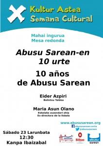 Mesa redonda: 10 años de Abusu Sarean